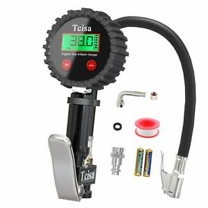 Tcisa Tire Inflator With Pressure Gauge Digital Heavy Duty 200 Psi Air Pres