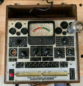Tube Tester Vintage Precision Apparatus Model 920 With Supplemental Test Data