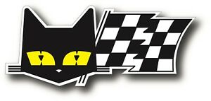 Sev Marchal 24 Hours Le Man Cat Checkered Flag Race Bumper Sticker Decal