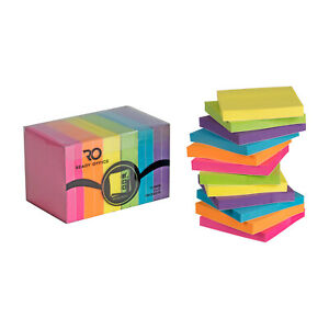Ready Office Color Sticky Notes 12 pads 100 Sheets Each Small 3x3 Squares Wi