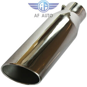 18 Long 4 Inlet 6 Outlet Bolt On Polished Diesel Stainless Steel Exhaust Tip