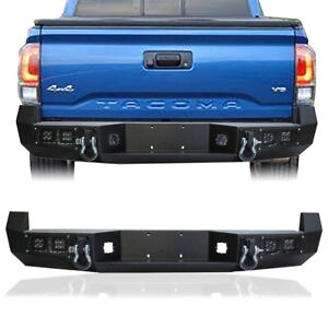 Full Width Rear Bumper W Led Lights And D Rings For 2005 2015 Toyota Tacoma