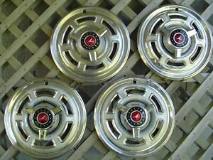 Vintage 1965 1966 1967 1968 Ford 14 Inch Falcon Ranchero Hubcaps Wheel Covers