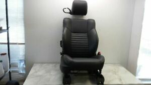 10 Challenger Passenger Right Manual Front Seat Black Leather