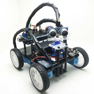 Arduino Smart Robot Car Chassis Kit Gear Motor Chassis Avoid Line Follow Ir Ble4