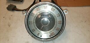Vintage Mopar Speedometer Round 5 Metal Glass Front Copper Letters Antique A