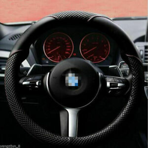 Us Universal Size Car Steering Wheel Cover 15 38cm Durable Pu Leather Non Slip