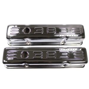 Chrome Steel Tall Valve Covers Fits 58 86 Sbc Chevy Small Block 283 305 327