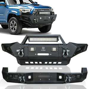 New Primered Texture Black Front Rear Bumper For 2005 2015 Toyota Tacoma