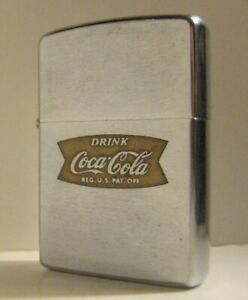 1963 ZIPPO DRINK COCA-COLA COKE FISHTAIL LOGO TIGHT HINGE ORIGINAL INSERT
