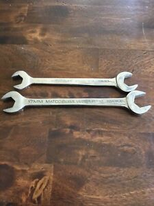 Matco Tools 2 Piece Open End Metric Wrenches Woem1618 Woem1719