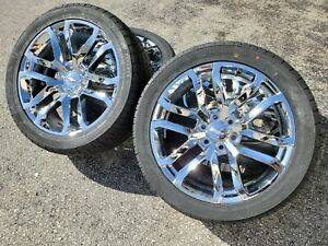 22 Chrome Chevy Wheels Rare 2019 Silverado Tahoe Suburban Rims