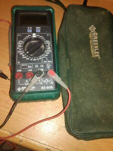 Greenlee 93 603 Digital Electrician Tech Multimeter With Case And Leads