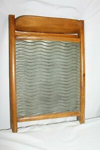 Vintage Antique Old Washboard Country Primitive Laundry Room Decor Scrub Board