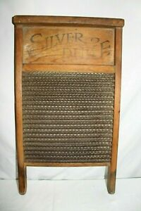 Vintage Antique Old National The Silver Duke Washboard Laundry Room Scrub Board
