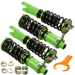 Coilovers Suspensions Kits Struts For Honda Civic 92 00 Integra 94 01 Green