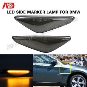 Smoked Led Side Marker Light Lamp Amber For Bmw E70 X5 E71 X5 E72 X6 2007 2013