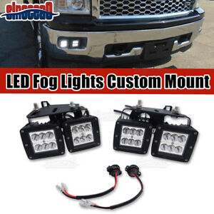 For 2014 2015 Chevy Silverado 1500 Hidden Bumper Led Fog Lights Replacement Kit