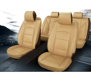 Car Seat Covers Protector W headrests For Toyota Tundra 4 door 2007 2019 Beige