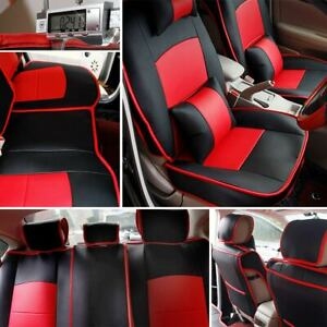 Fit For 4 door Toyota Tundra Seat Cover Pu Leather Protector 2007 2019 Black Red