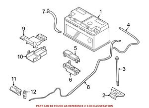 For Bmw Genuine Battery Terminal Protector Lower 61136929762