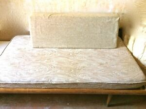 Mid Century Modern Sofa Day Bed W Side Table Attached