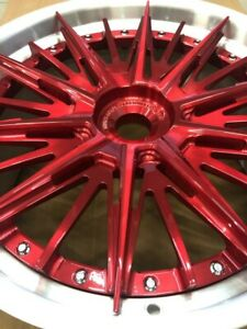 2 piece Custom Forged Wheels 20 21 22 Mini Truck Lowride Stance Brushed Red