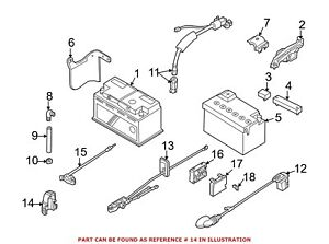 For Bmw Genuine Battery Terminal Protector 61138371017