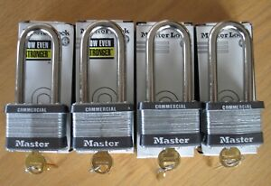 4 New Master Lock Commercial Padlocks 5kalj Keyed Alike Free Shipping
