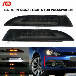 For Vw Scirocco 2008 2013 Smoked Led Running Light Turn Signal Lamp Position 2pc