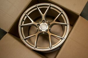 19 Vs Forged Vs02 Brushed Bronze Concave Wheels Rims Fits Ford Mustang Gt S550