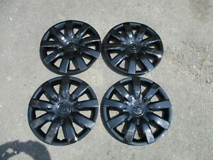 1 Set Of 4 Brand New 2005 2006 Camry Hubcaps 15 Wheel Covers Black 61136