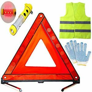 Triangle Stop Plate Compact Folding Reflective Vest Triangle 57692 Fromjapan