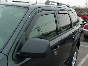 In channel Wind Deflectors 2008 2012 Ford Escape