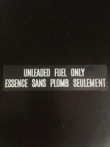 Mazda Rx7 Fuel Door Clear Sticker With White Letters Close Out Price 4 99