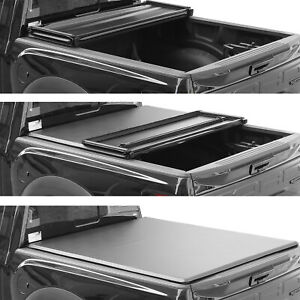 For 2015 2019 Ford F 150 Truck Bed Tonneau Cover 5 5 67 1 Soft Tri Fold