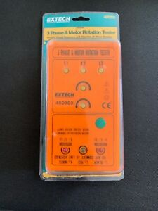 Extech 480303 3 Phase Motor Rotation Tester new