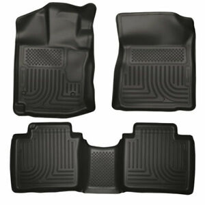 Husky Weatherbeater Front 2nd Seat Floor Liners Black For Toyota Venza 12 15