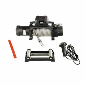 Rugged Ridge Trekker Winch 10000 Lbs Cable Ip68 Waterproof Wired Remote