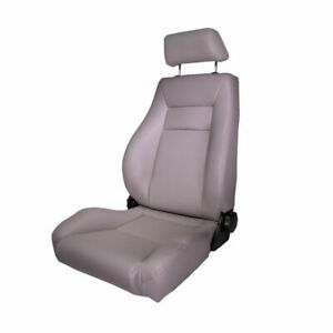 Rugged Ridge Ultra Seat Front Reclinable Gray For Jeep Cj Wrangler Yj Tj 76 02