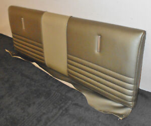1967 Mustang Fastback Gt Gta Shelby Orig Ivy Gold Deluxe Rear Upper Seat Cushion