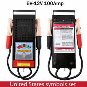 100amp Car Van Auto Battery Tester Load Drop Charging System Analyzer Checker Us