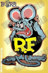 2 Pack Rat Rod Hot Rod Decal Sticker Vintage Racing Rat Fink Ed Roth Tools Oil