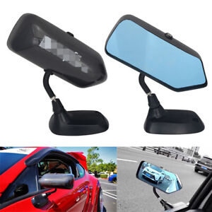 2pcs Real Carbon Fiber Universal Round Car Side Mirror Rearview Mirror F1 Style