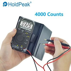 Mini Digital Multimeter Auto Range 4000 Counts Ac dc Amp Ohm Voltmeter Tester