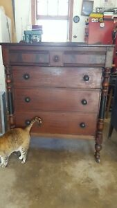 Antique Berkey And Gay Dresser 2 Twin Bed Complete Set