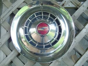 One Vintage 1954 54 Chevrolet Chevy Impala Bel Air Nomad Wheel Cover Hubcap