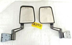 76 06 Jeep Wrangler Cj Yj Tj Full Half Door Side Mirrors Mirror Pair Factory