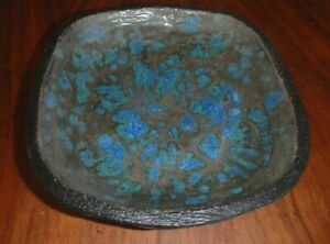 Mid Century Potter Barbara Willis Signed Low Bowl Dated