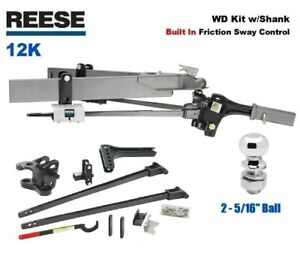 12k Reese Sc Trunnion Weight Distribution Hitch Built In Sway W 2 5 16 66155